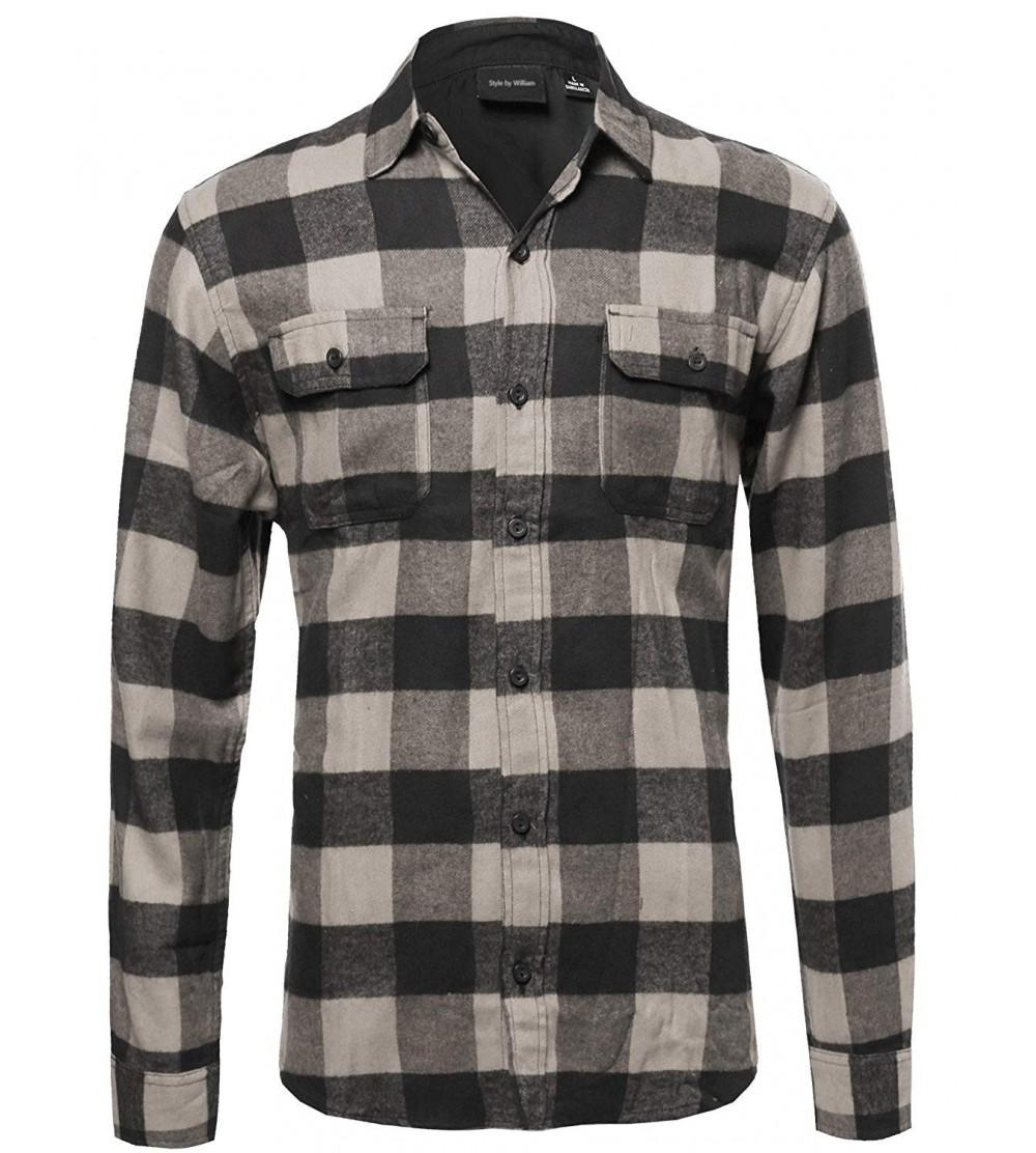 Style William Flannel Checkered Pockets