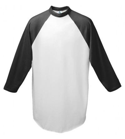 Augusta Baseball Jersey Raglan sleeves White Black Youth SM