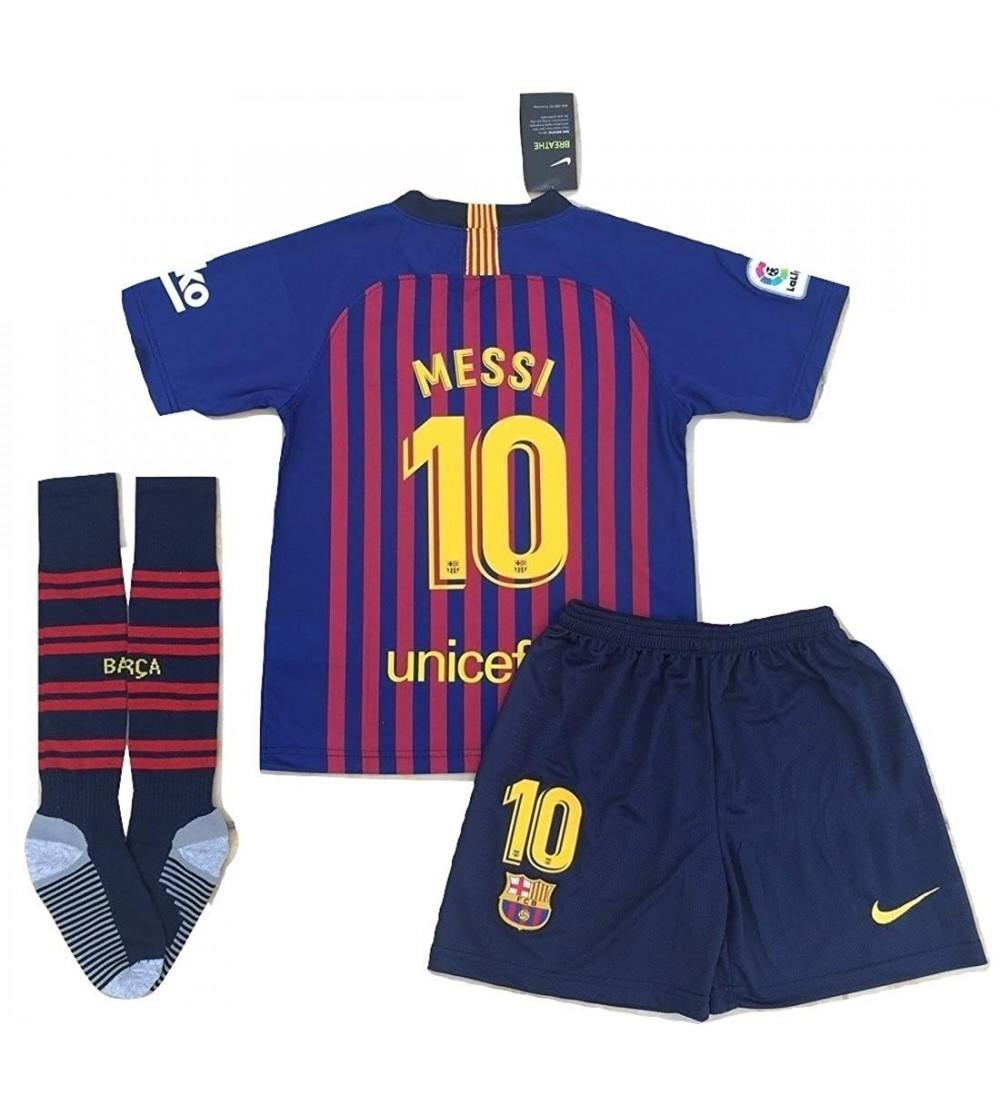 info for 254f3 b164d Messi 10 New 2018-2019 FC Barcelona Home Jersey Shorts and Socks for  Kids/Youth - CV18NXH2LKM Size 7-8 Years Old