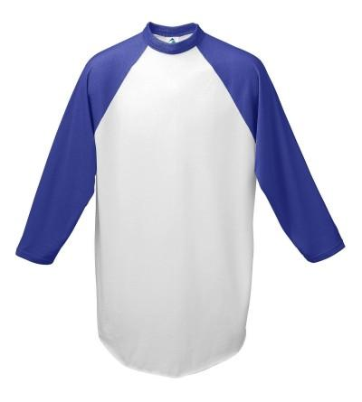 Augusta Baseball Jersey Raglan sleeves White Purple Youth MD