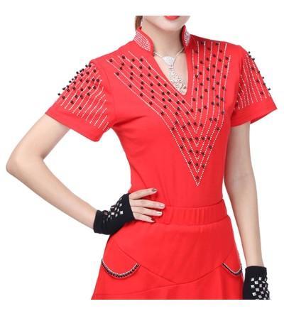 Womens T Shirt Sleeve Collar Diamond