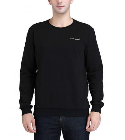 Camel Sweatshirts Cotton Crewneck Sweater