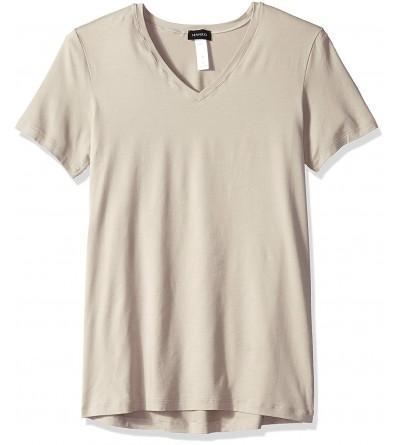 HANRO Cotton Superior Sleeve V Neck