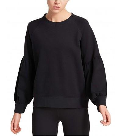 DKNY Womens Cotton Balloon Sleeve Sweatshirt