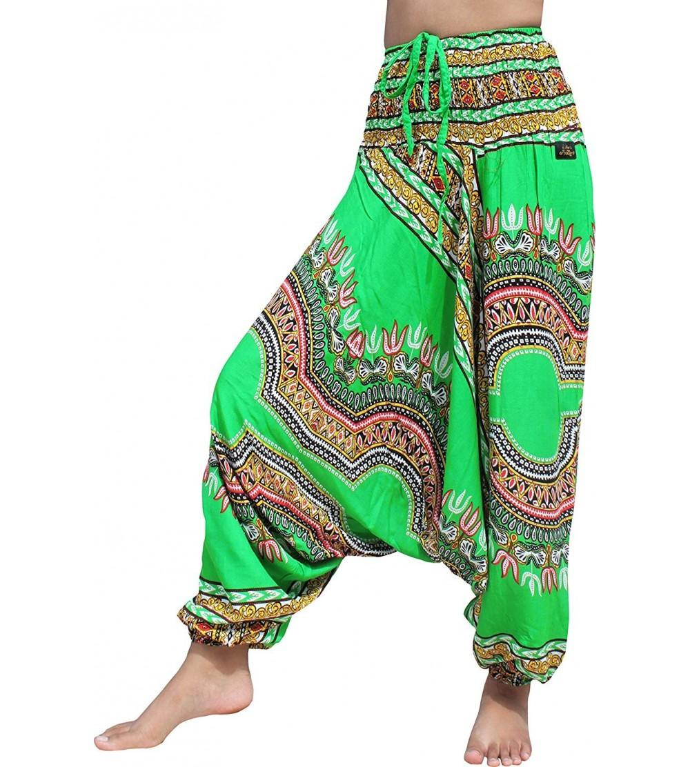 browse latest collections huge selection of catch Aladdin MC Hammer Harem Pants Rayon Smock Top Dashiki Africa Artwork - Lime  Green - C2182OXCW3X Size Medium
