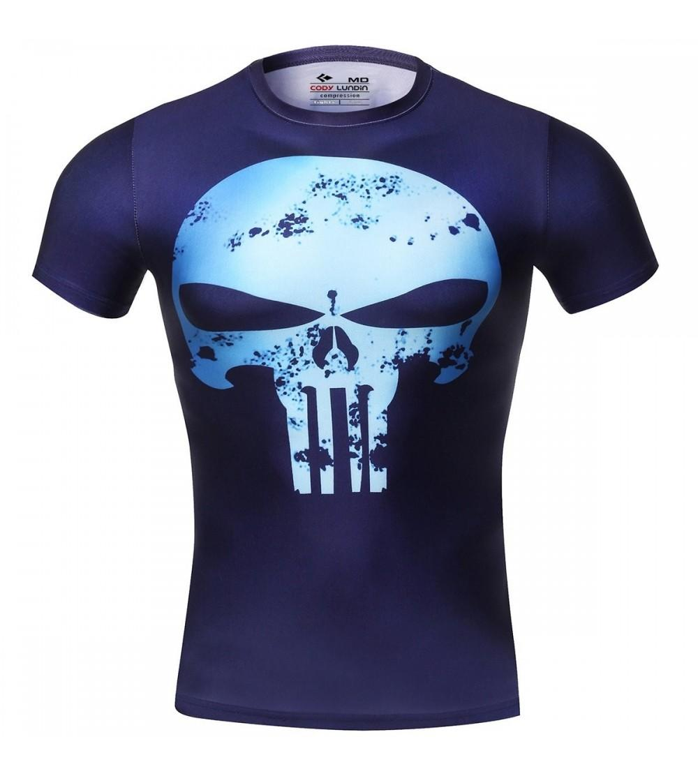 Red Plume Compression Fitness T Shirt