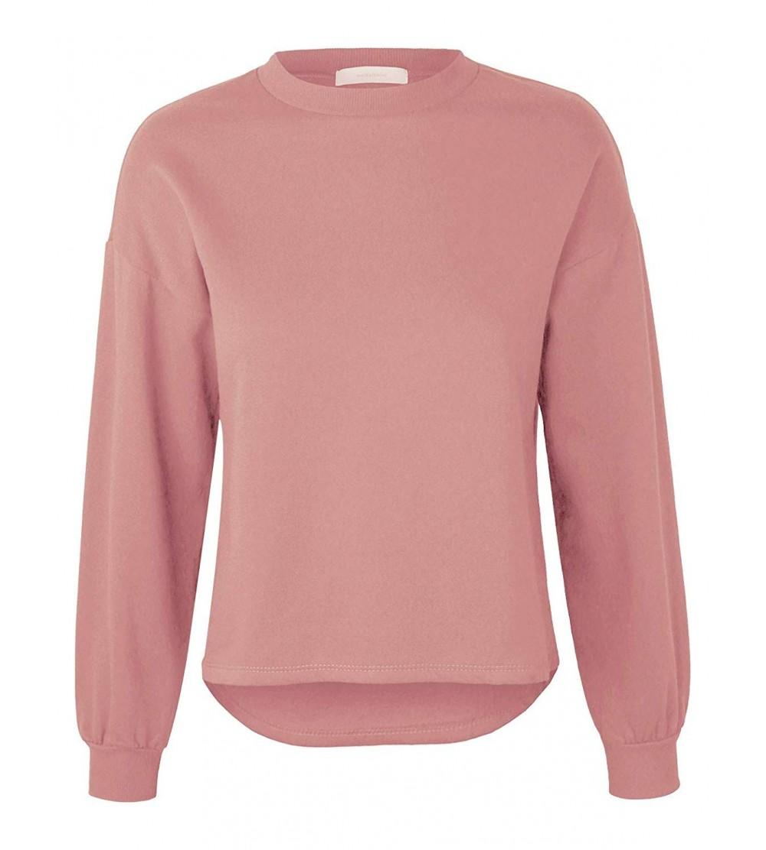 makeitmint Womens Oversized Sweatshirt YIL0020 ROSE LRG