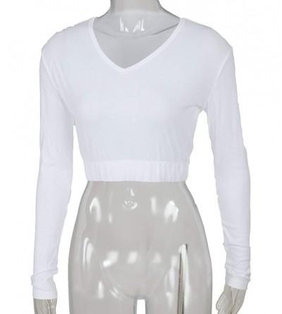 Cheer Fantastic V Neck Midriff White