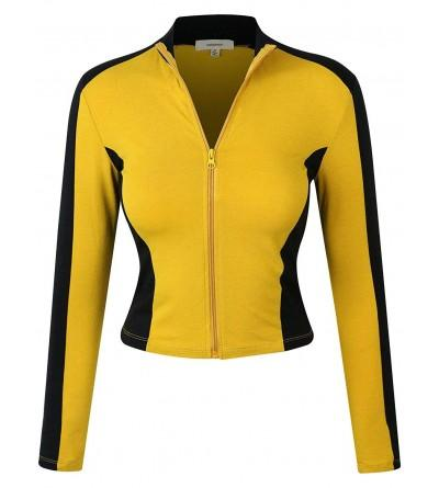 makeitmint Womens Breathable Jacket YJZ0080 MUSTARD MED