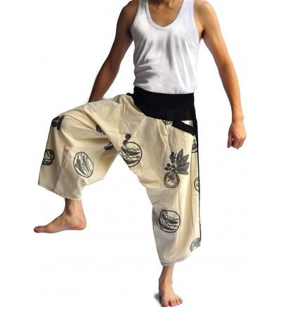 Siam Trendy Mens Japanese Style Pants fisherman pants All color design Grey