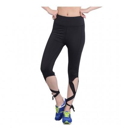 GUOLEZEEV Legging String End Workout Stretchy