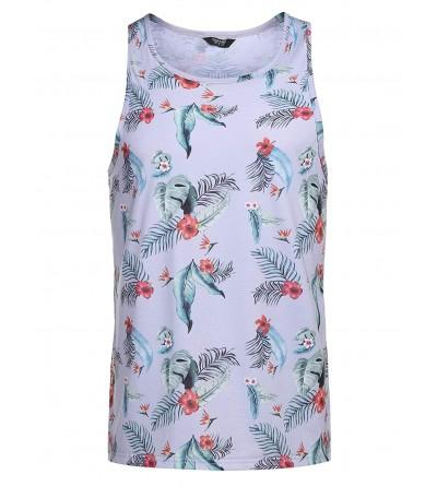 COOFANDY Floral Sleeveless Casual T Shirts