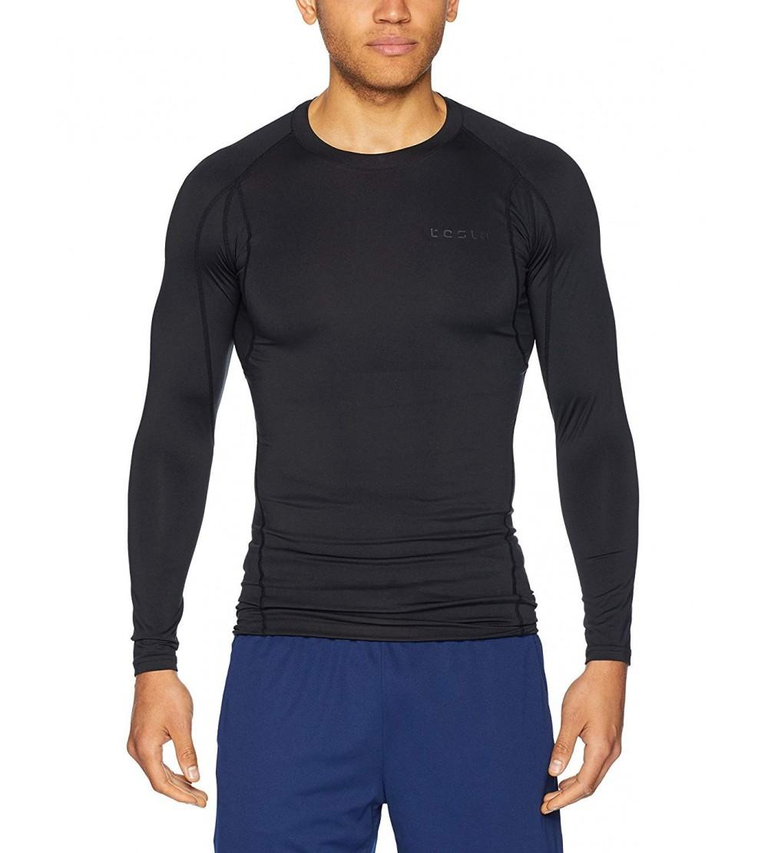 1fe6de0190264 Men's Long Sleeve T-Shirt Baselayer Cool Dry Compression Top MUD11/ MUD01 -  A-TM-MUD11-KLB - C9189HA60S9 Size 2X-Large