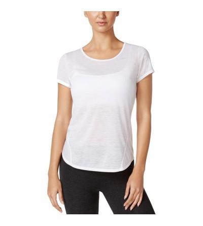 Ideology Womens Heathered Marled T Shirt
