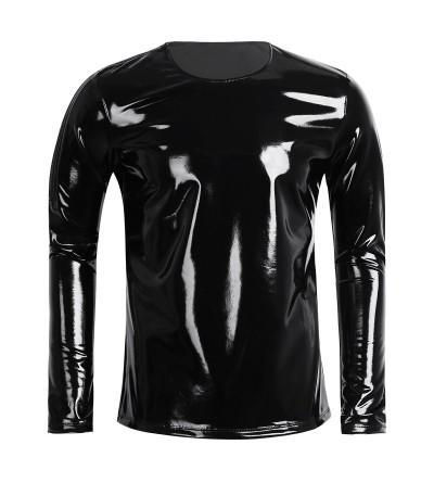 CHICTRY Wetlook Shoulder Nightclub Pullover