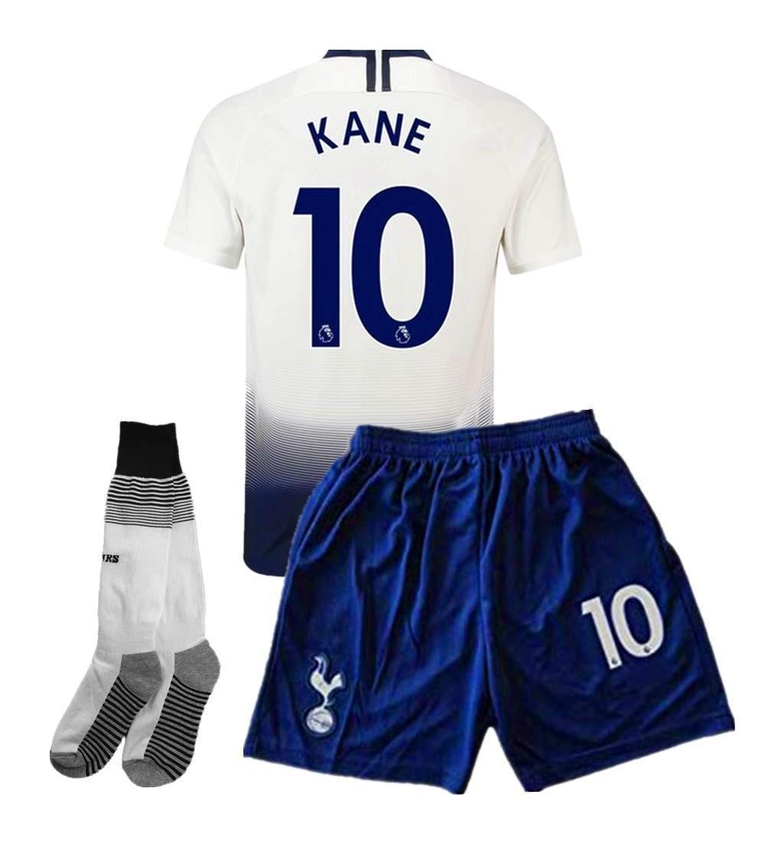 best sneakers 76b22 7e719 2018/2019 Tottenham Hotspur Home 10 Kane Kids/Youth Soccer Jersey & Shorts  & Socks Color White - CX18Q8SH8M8 Size 7-8Years