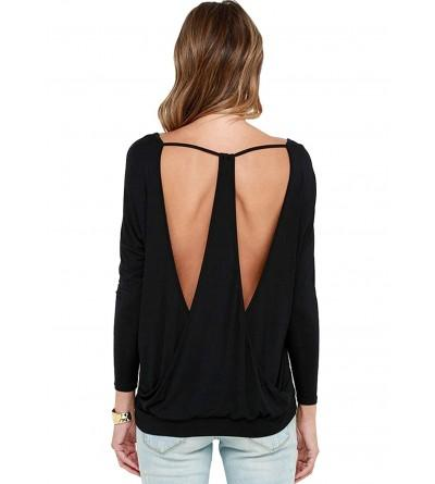 Yuchamryi Womens Sleeve Stretchy Backless