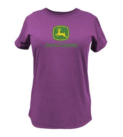 John Deere Logo T Shirt Fuchsia