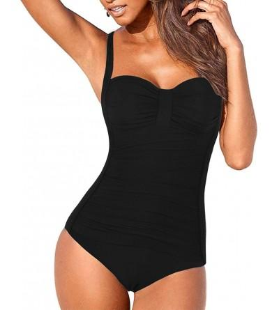 Hilor Shirred Swimwear Swimsuits Monokinis