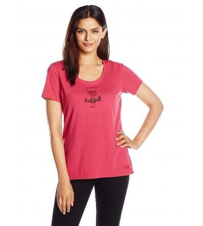 Life Womens Crusher Wineglass T Shirt