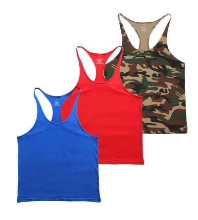 MUSCLE ALIVE Bodybuilding Stringer Cotton
