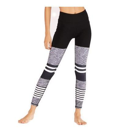 Eseres Waisted Leggings Striped Printed