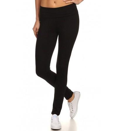 MOPAS Yoga Pants Solid Waistband