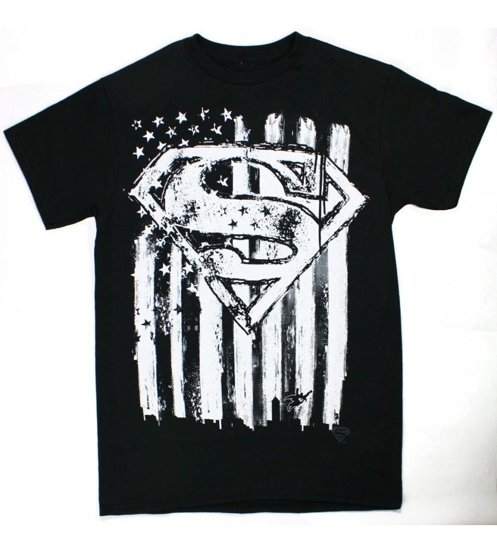Changes Superman Emblem Black Shirt