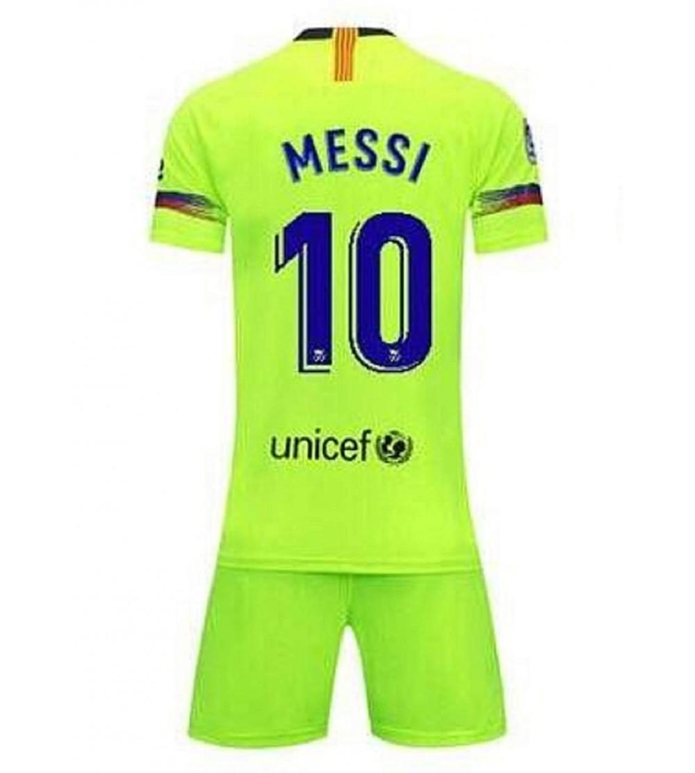 cheaper 4a2a3 4e515 Kids Messi New Away Jerseys 18-19 Barcelona 10 Football Jersey Soccer  Jersey Green(S-XL) - CJ18H9K2N5L Size Small