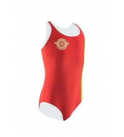 SuvimSports Piece Swimsuits Girl Crimson