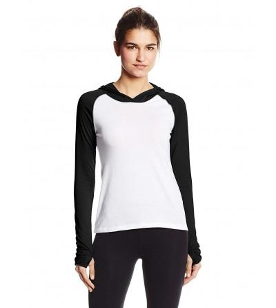 Soffe Womens Sweat Colorblock Hood