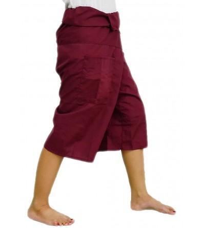 Dark Red Toray Fisherman Trousers