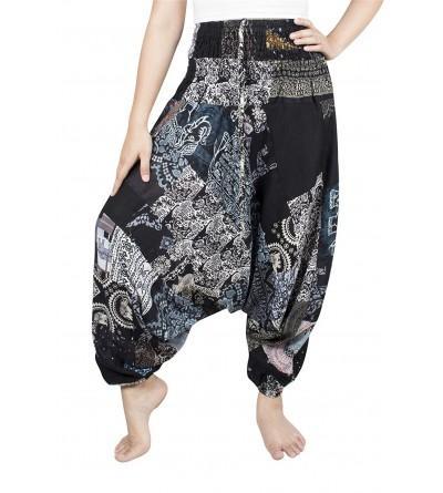 Lofbaz Womens Smocked Pattern Jumpsuit