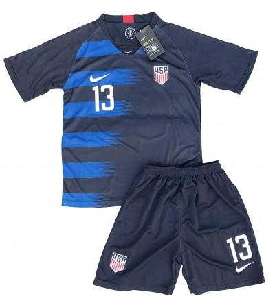 separation shoes e00fc 79fc9 New 2018-2019 Alex Morgan 13 USA National Team Away Soccer Jersey & Shorts  for Kids/Youths - CW18IOM86GX