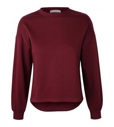makeitmint Womens Oversized Sweatshirt YIL0020 BURGUNDY MED