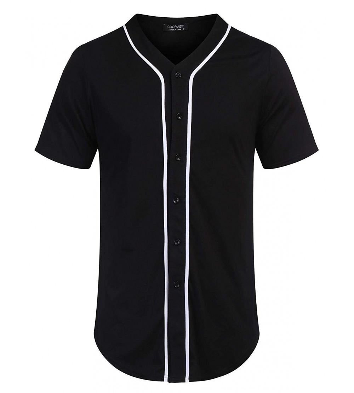COOFANDY Baseball Button Jersey Hipster
