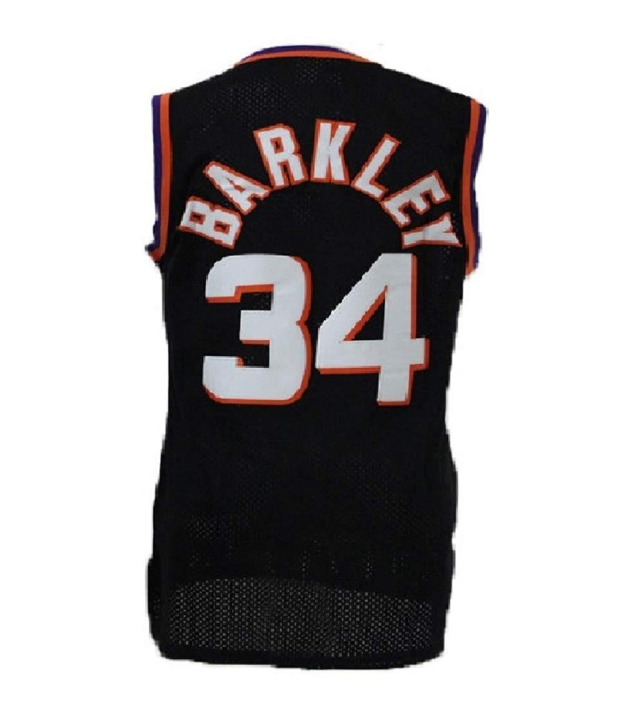 best service 8e21d 4e40a Mens Barkley Jersey Retro Basketball Charles 34 Jerseys(S-XXL) - Black -  CU18QRY7Y9A Size Small