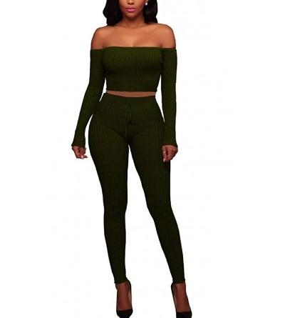 Flesser Womens Shoulder Bodycon Outfit