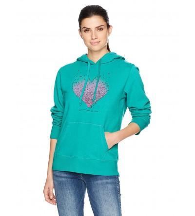 Life Good Womens Hearts Hoodie