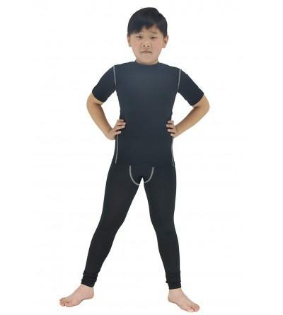 LANBAOSI Compression Shirts Shorts Childs