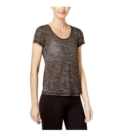 Ideology Womens Mesh Back High Low Pullover