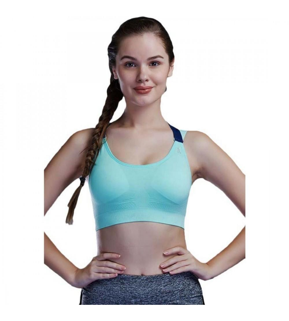 RRAVE Womens Sports Bra Seamless Wirefree with Removable Cups for Girls
