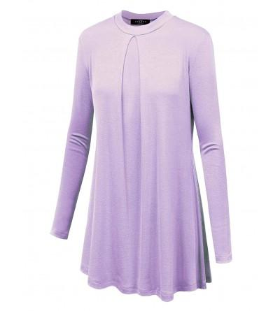 Womens Round Sleeve Pleats Detail