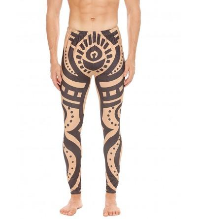 COOFANDY African Tribal Compression Leggings