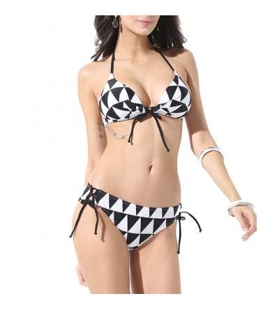 IDOMIK Triangle Patterns Swimsuit Swimwear