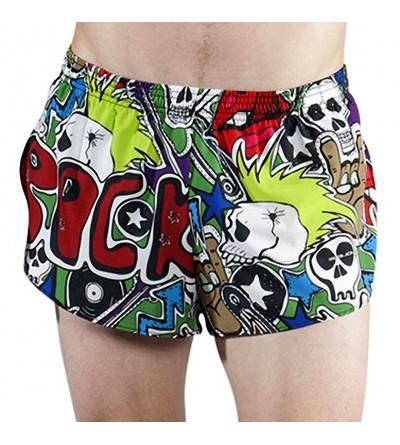 Stretch Printed Running Shorts X Large