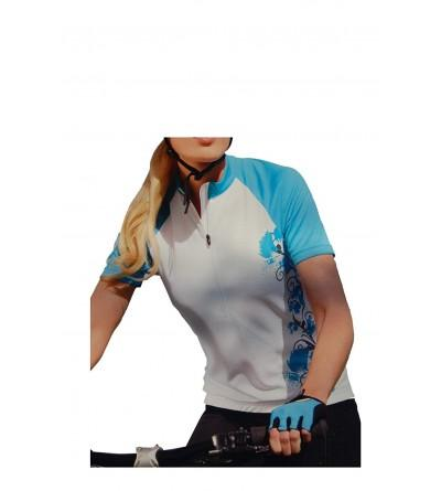 EuroBrand Ladies Sublimated Turquoise Cycling