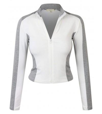 makeitmint Womens Breathable Jacket YJZ0080 WHITE SML