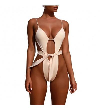 Backless Cutout Swimsuit Monokini Bathing