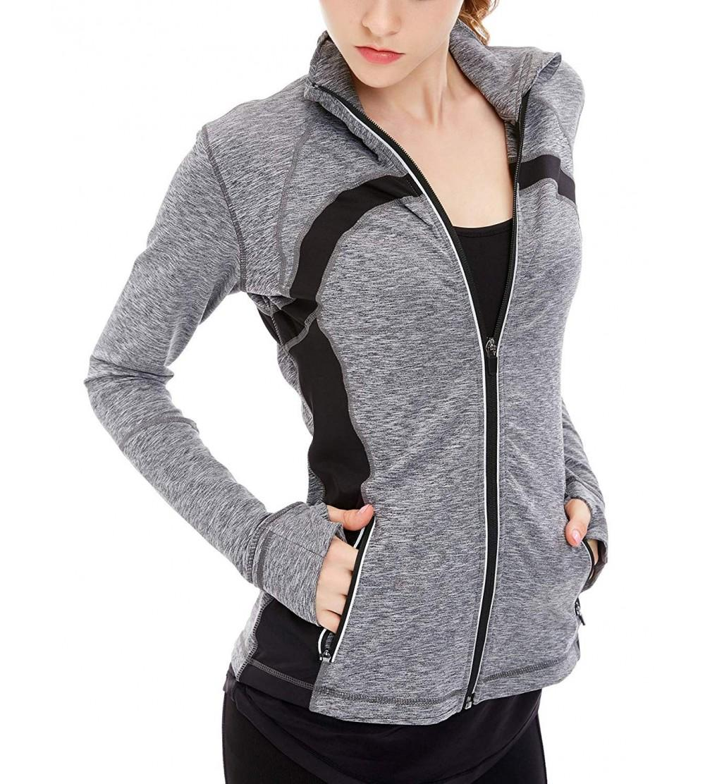 icyzone Womens Running Workout Jacket
